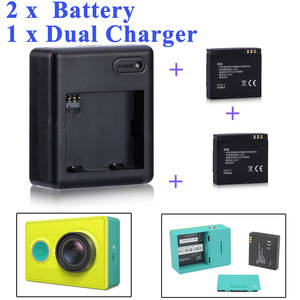 Xiaomi 2 PCS 1010 mAh + xiaoyi dual charger For xiaomi yi action camera