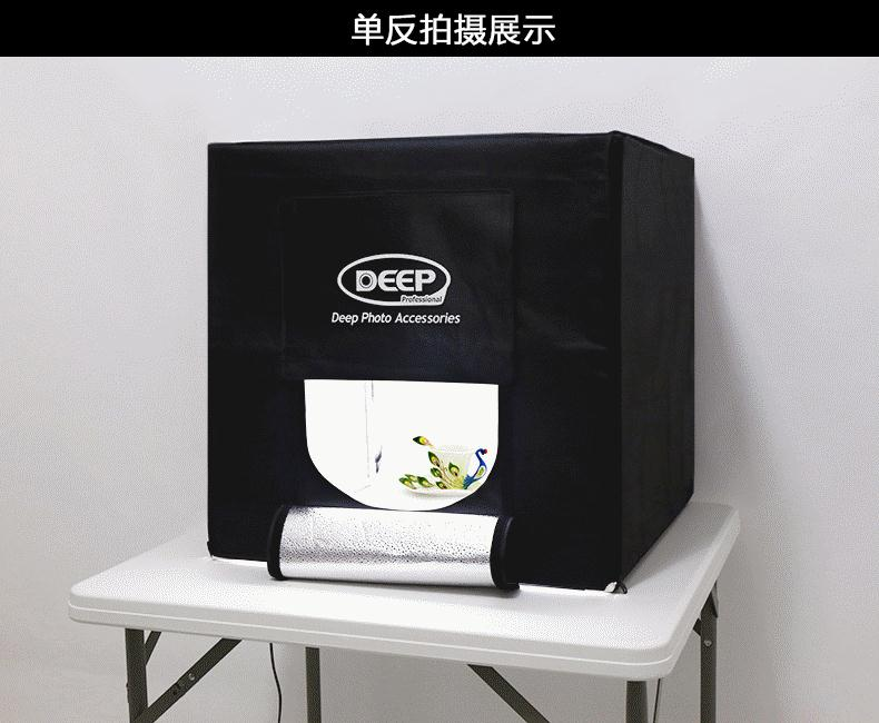 US $350 0  DEEP LED Light Softbox 80x80 Light Tent Professional Photography  Light Box Studier Set with Led Background Cloth-in Photo Studio