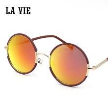 LA VIE Round Lens Sunglasses Men/women Polarized Gafas Oculos Retro Coating Sun Glasses Round 2017 New Arrival Glasses