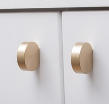 4pcs/lot Pure copper round cabinet drawer handle