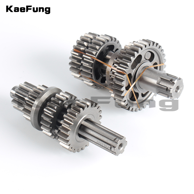1 Set Fourth Gear Main Countershaft Transmission Gear Box Main Counter Shaft fit for Lifan 125cc Electric Foot Start Engines ZB-110