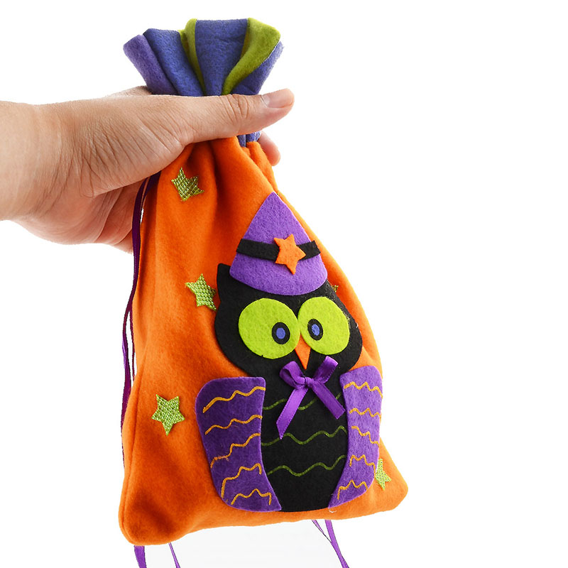 Upspirit Candy Cookie String Bag Pull Biscuit Pockage Money Pouch Gift With Owl Cat Pumpkin Witch Pattern In Bags Wring