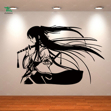 Samurai Geisha Japanese Katana Swords Anime Decorative Vinyl Wall Sticker Home Living room Kids Boys girls bedroom decor mural