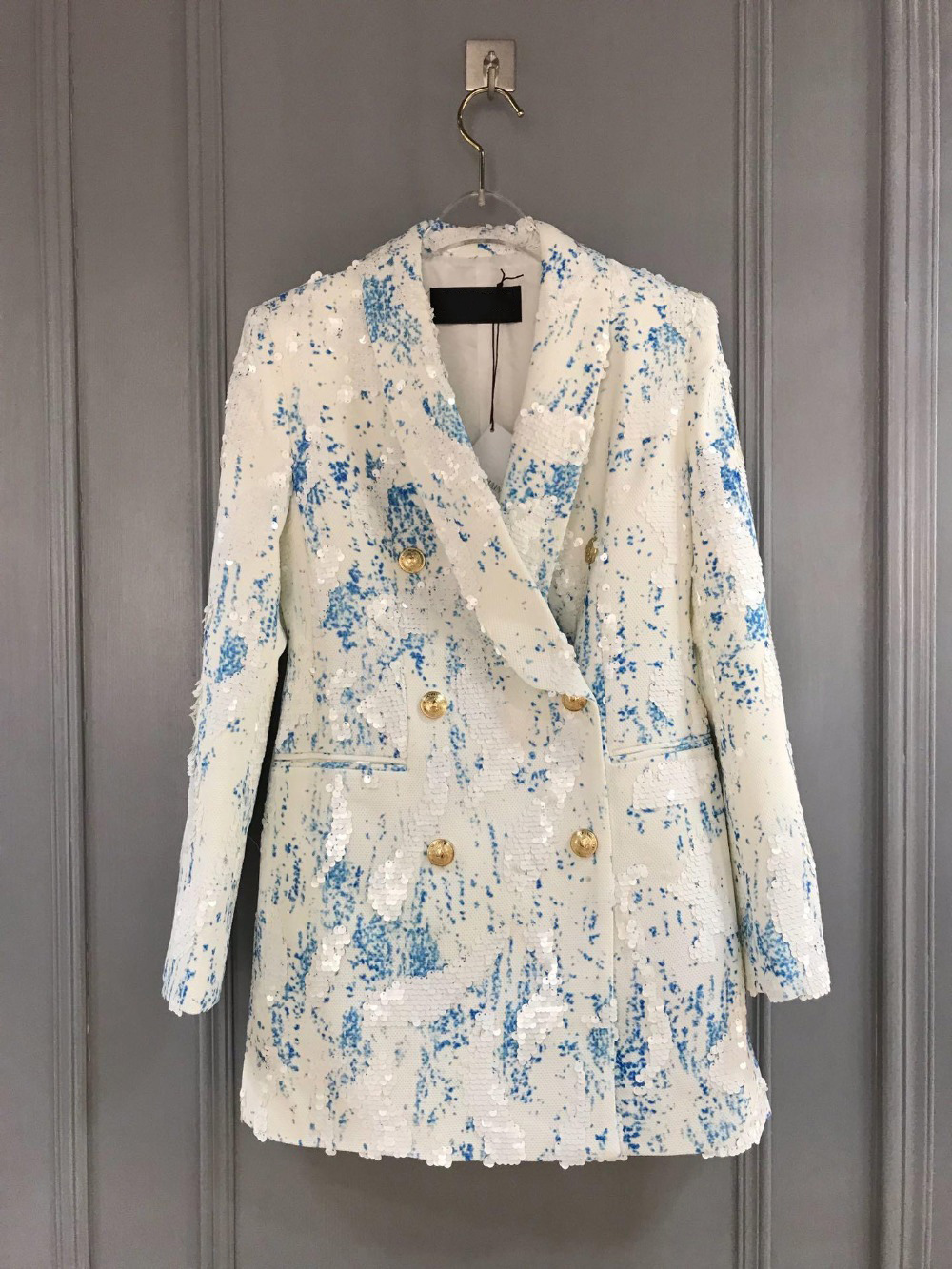 19ss latest fashion new color butterfly denim jacket 0404