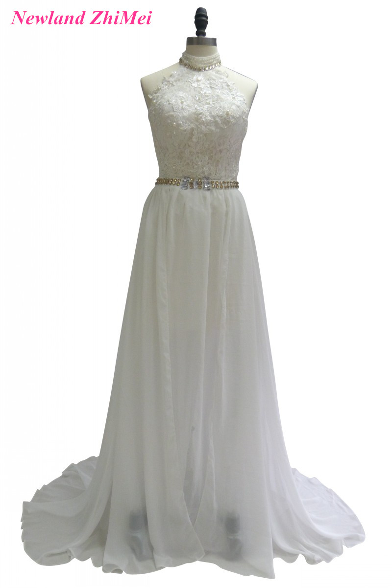 Charming A Line font b Bridal b font font b Gown b font Vintage High Neck