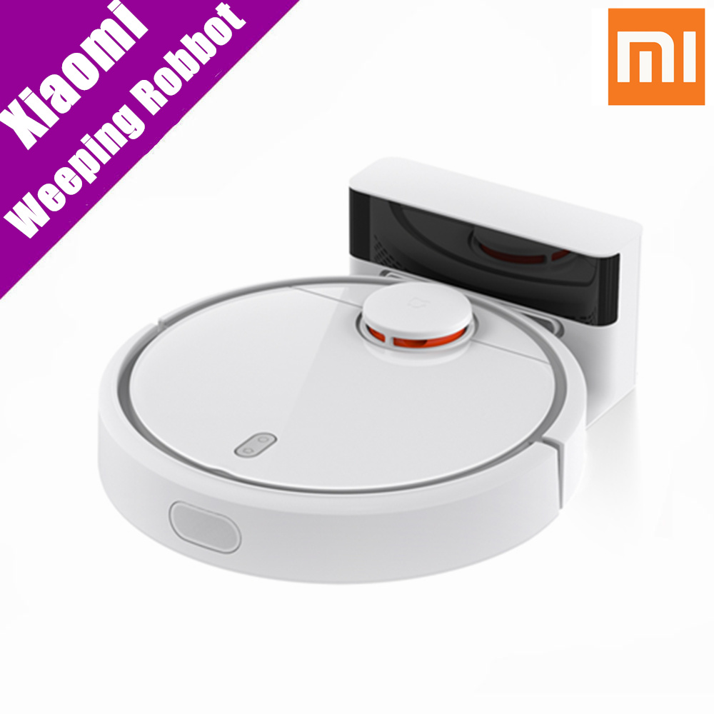 Original Xiaomi Mijia Smart Remote Control Robot Household Sweeping Automatic Efficient Vacuum Cleaner APP Control original xiaomi mi robot vacuum cleaner for home automatic sweeping dust sterilize smart planned mobile app remote control