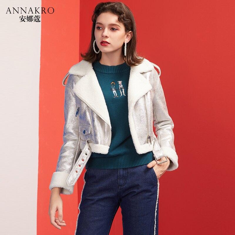 Veste Femelle Annakro Courte Style Agneau Court Cheveux 2018 D'hiver Imitation Paragraphe Petit Épais Nouveau Revers Chemise Parfum g1g5rfnA