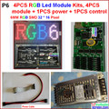 6mm led module kits, 4 pcs module + 1 power + 1 controller + power cable + data cables