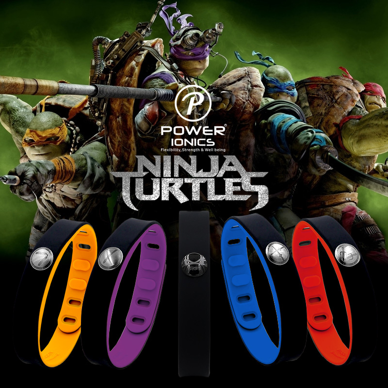 Power Ionics Ninja 4in1 Multifunction Titanium/Ge/F.I.R/ tourmaline 3000ions/cc Sports Waterproof Healthy Bio Wristband Bracelet