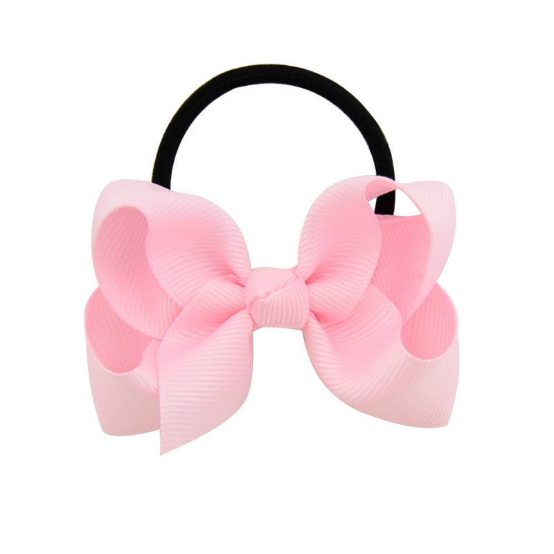 5Pcs/set Baby Headdress Candy Color Elastic Kids Headwear Cute Bowknot Ties Rope Infant Hair Bands Baby Girl Hair Accessories