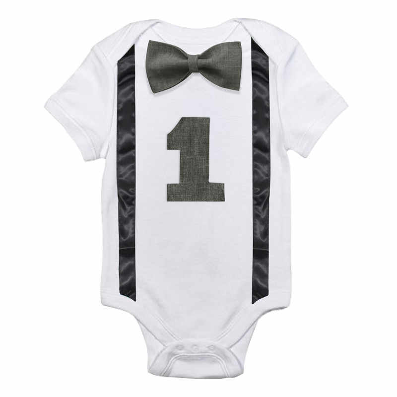 03c2d21e ... Newborn Baby Boy Rompers Roupas Clothing Little Gentleman Bow Tie Romper  One Piece Jumpsuit Toddler Boys ...