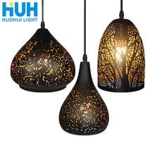 Винтажный подвесной светильник, скандинавский пористый Лофт, E27, светодиодный, железный, травленый абажур, для бара, ресторана, лампа, креативный стиль, ржавчина, подвесной светильник