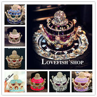 Luxury Crystal Crown A Type Car Perfume Car Creative Crystal High Grade Crystal Interior Furnishing Articles