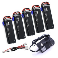 VHO 5pcs 7 4V 2700mAh 10C Hubsan H501S Lipo Battery With Cable For UL Charger RC