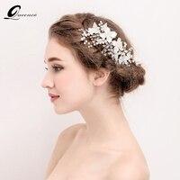 Biały Floria Grzebień Włosów Dla Nowożeńców Pearl Spinki Biżuteria Ślubna Włosów Akcesoria Do Włosów Dla Nowożeńców Tiara Chluba Włosów Ornament