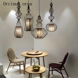Klatka dla ptaków nowy chiński żyrandol Cafe retro salon jadalnia żyrandol klasyczny chiński styl opłata pocztowa za darmo Wiszące lampki Lampy i oświetlenie -