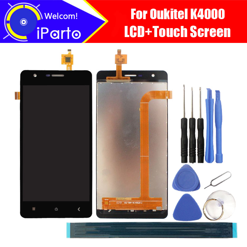 5.0 inch <font><b>Oukitel</b></font> <font><b>K4000</b></font> LCD Display+Touch Screen Digitizer 100% Tested New LCD Screen Glass Panel Assembly For <font><b>K4000</b></font> (2 touch) image