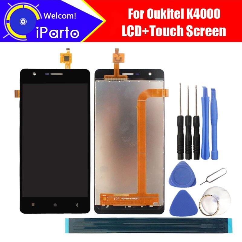 5,0 zoll Oukitel K4000 LCD Display + Touchscreen Digitizer 100% Getestet New Lcd-bildschirm Glasscheibenanordnung Für K4000 (2 touch)