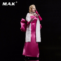 For Collection SA0015 1/6 Scale Full Set Collectible Marilyn Monroe In Pink Red Dress Version Action Figure Model for Fans Gifts