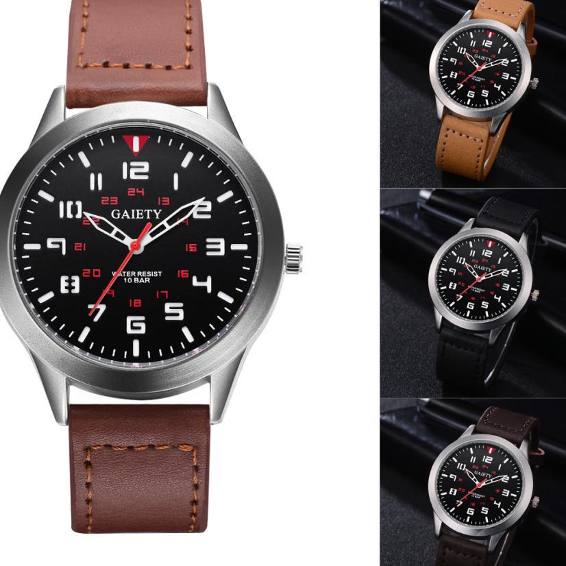 Male Fashion Pattern Quartz Watch Leather Strap Belt Watches watch men luxury mens watches top brand luxury 2018 Hours цена 2017
