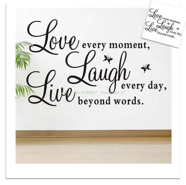 Live Love Laugh Quotes Impressive Sales Promotion Live Love Laugh Letters Transprent Waterproof