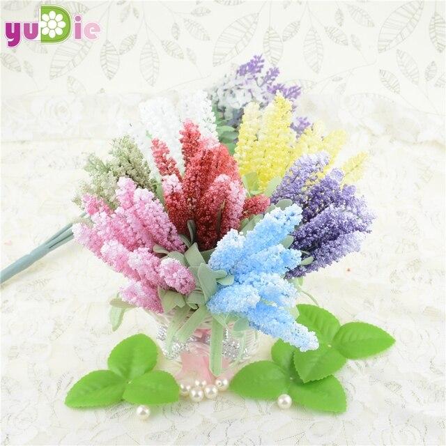 10 PCS Faux Fleurs Fleur Artificielle Bouquet Artificielle Lavande ...
