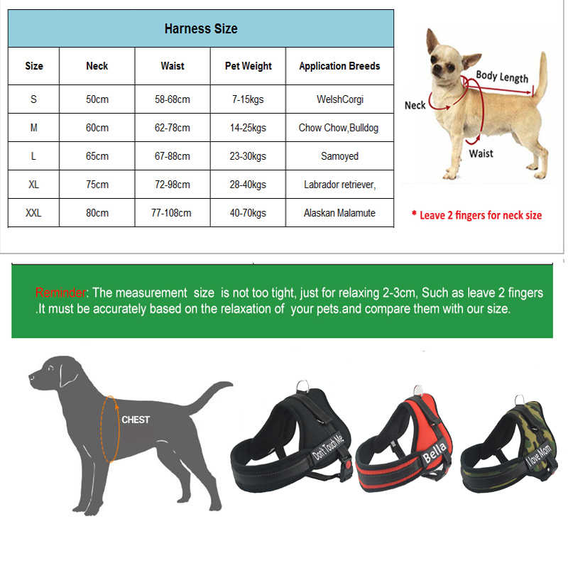 Hot Sale Besar Nama Anjing Harness Kecil Medium Anjing Besar Harness Pribadi Harness untuk Anjing