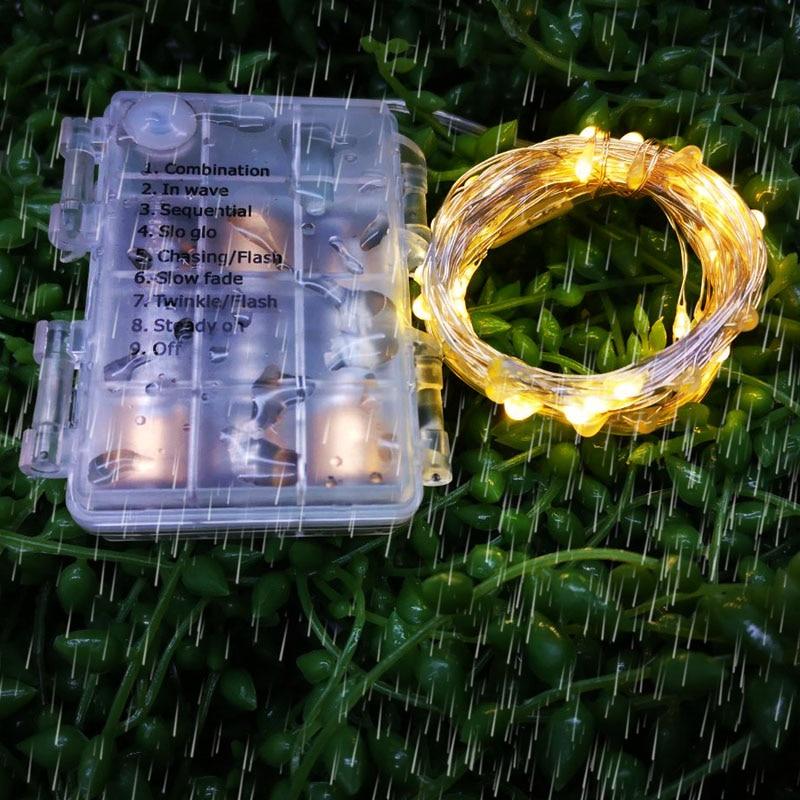 2M 3M 5M 10M 100 LED String Lights LED Fairy Lights Battery LED Christmas Halloween Lights Outdoor / Indoor Decoration