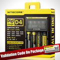 Оригинал Nitecore D4 Digicharger D2 ЖК-Интеллектуальные Схемы Глобального Страхования литий-ионный 18650 14500 16340 26650 Зарядное устройство