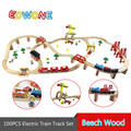 100PCS Thomas Electric Train Track Set Wooden Railway Track EDWONE Fit For Thomas Thomas & Friends Train and Brio Gifts For Kids