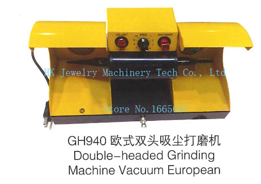 double head grinding machine jewelry polisher European style buffing motor dust collector