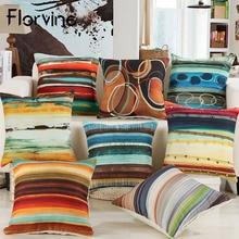 купить Cushion Cover 45x45cm Linen Scenic Pillowcase Home Car Soft Decoration Chair Seat Pillow Cushions Decorative Throw Pillow Covers дешево