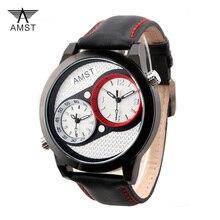 AMST Cuarzo de Los Hombres Relojes Deportivos Militar Impermeable Reloj Digital Cronómetro Alarma Zonas Dual Time Reloj de Pulsera relogios masculinos