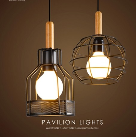 Loft Wood Art Metal Droplight Industrial Vintage Pendant Light Fixtures For Dining Room Bar LED Hanging Lamp Home Lighting iwhd loft style creative retro wheels droplight edison industrial vintage pendant light fixtures iron led hanging lamp lighting