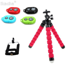 цена Flexible Sponge Octopus Tripod For iPhone Bluetooth Remote Shutter Mini Bracket Table Desk Tripod Phone Camera Holder Stand онлайн в 2017 году