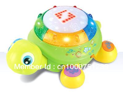 Music drum, intelligent turtle with dazzle colour LED