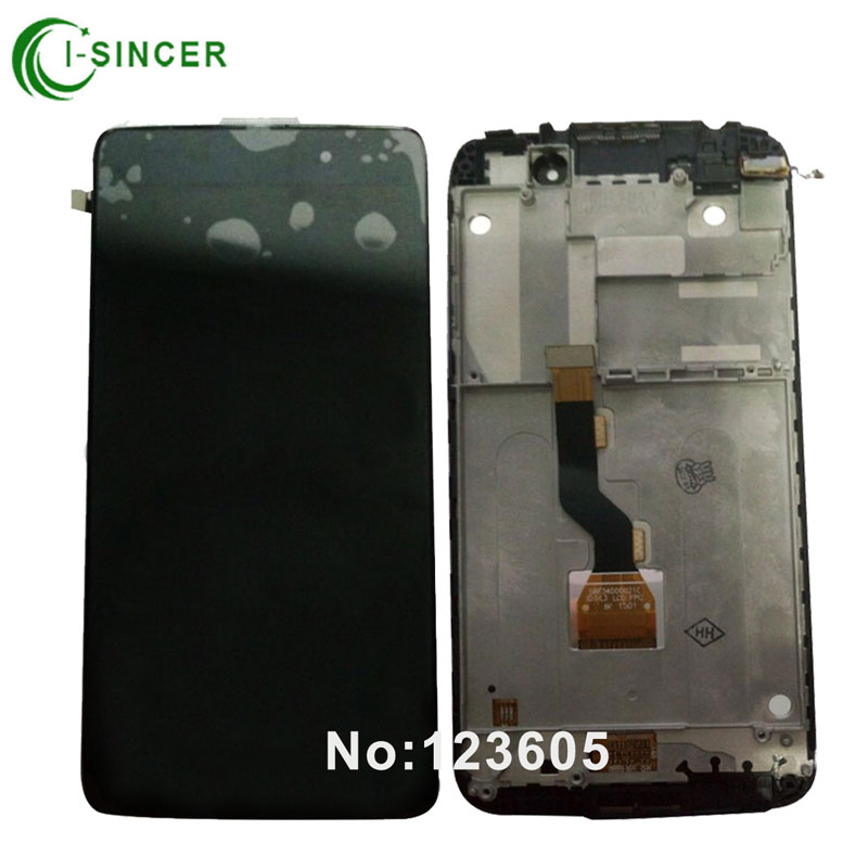 1/PCS LCD Display For Alcatel One Touch Idol 3 OT6039 6039 6039D LCD with Touch Screen Digitizer Assemblely with Frame Black