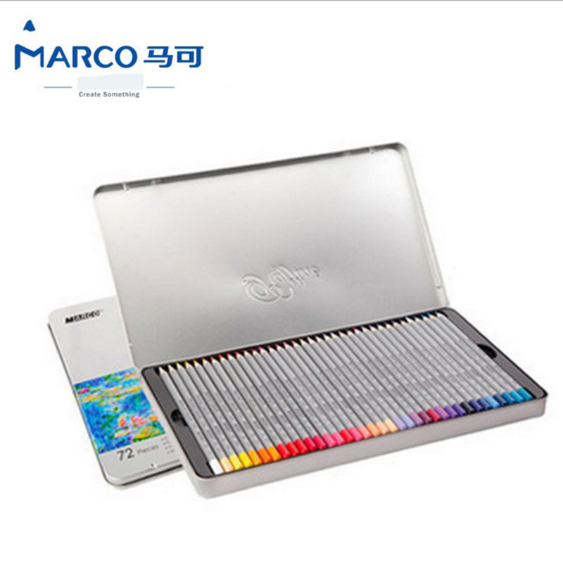 Marco Raffine Fine Art colored pencils 48/72 Colors Drawing Sketches Tin box Colour Pencil School Supplies Secret Garde Pencil marco raffine fine art colored pencils 24 36 48 colors drawing sketches mitsubishi colour pencil for school supplies