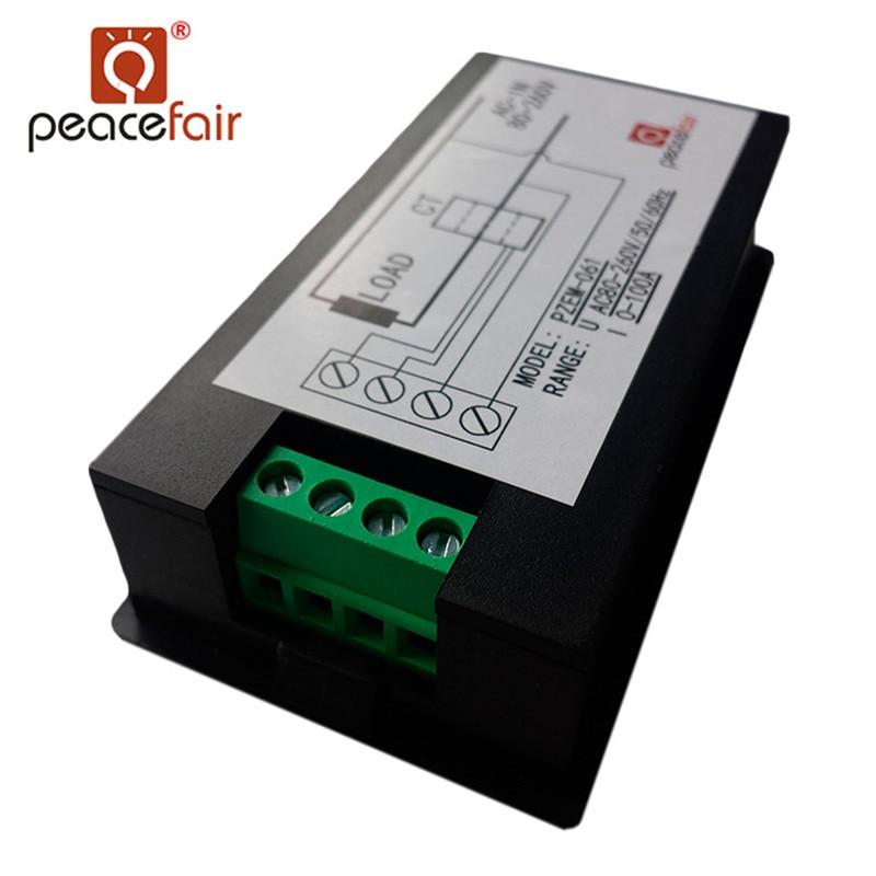 Amperometro digitale monofase Voltmetro AC 80-260 V 100A 4IN1 - Strumenti di misura - Fotografia 5