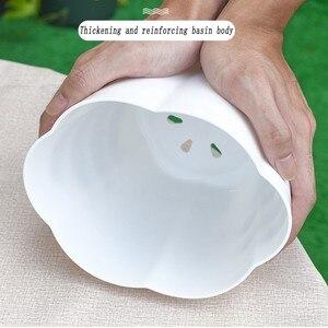 Image 4 - 1 PCS Spessore di fiori di Plastica Vaso di fiori Giardinaggio Domestico carnoso Specie Piantine di Fragola Grande Verdi In Vaso Vasi di fiori con Vassoio