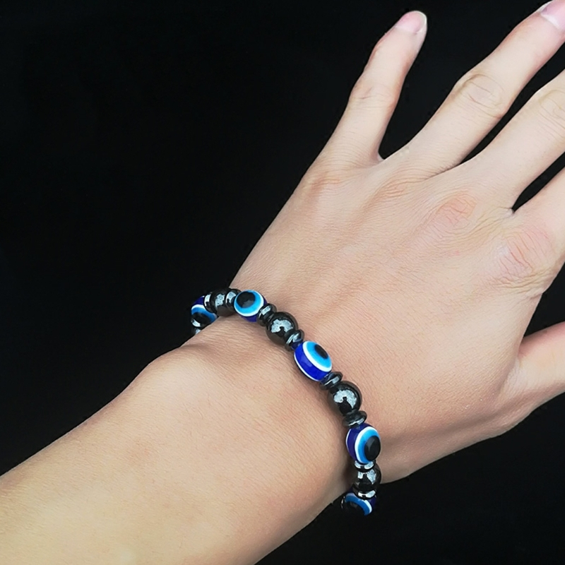 1Pc Weight Loss Stone Therapy Slimming Bracelets Health Care Magnetic Hematite Beaded Stretch Bracelets for Women Weight Loss in Slimming Creams from Beauty Health
