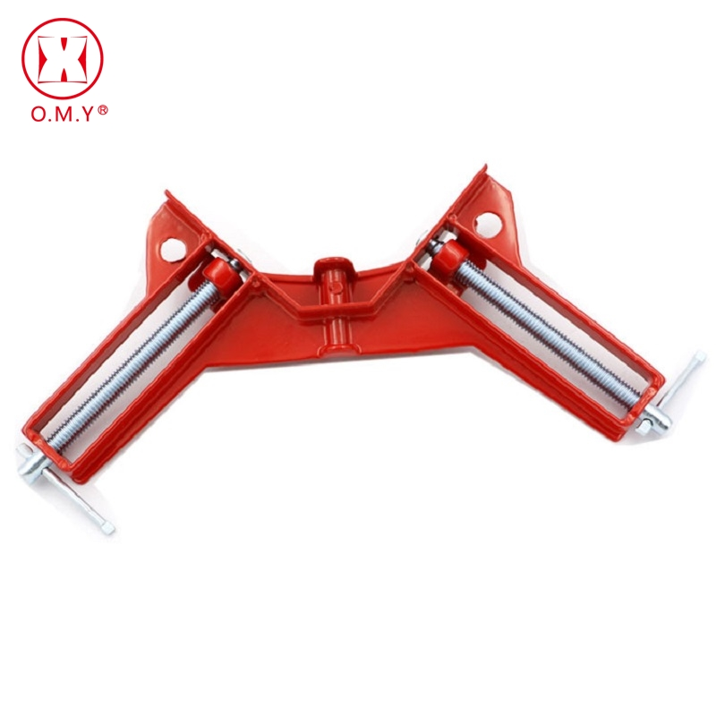 OMY Double handle 90 Degrees Angle Clamp Right Angle Woodworking Frame Clamp Angle clip clamp aluminum alloy frame type цена