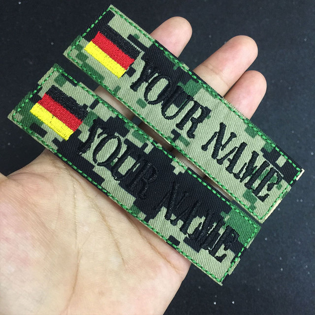 US $4 9 |Custom Embroidery morale Name Patch, 2 pcs Personalized Military  Number Tag Customized Logo ID For Multiple Clothing Bag -in Patches from