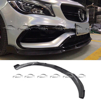Front Bumper Spoiler For BRABUS Style Carbon Fiber Front Lip Spoiler for Mercedes Benz W117 CLA AMG CLA45 2015 up