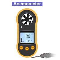Gm818 anemômetro portátil anemometro termômetro medidor de velocidade do vento medidor windmeter 30 m/s lcd digital hand-held ferramenta