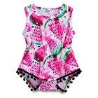 2019 Kawaii Watermelon Baby Pink Bodysuit Sleeveless Newborn Girl Onesie Baby One Piece Summer Clothes