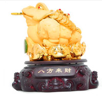 The golden toad family adornment tripod frog handicraft furnishings statue of the golden toad craft statue Make your home rich
