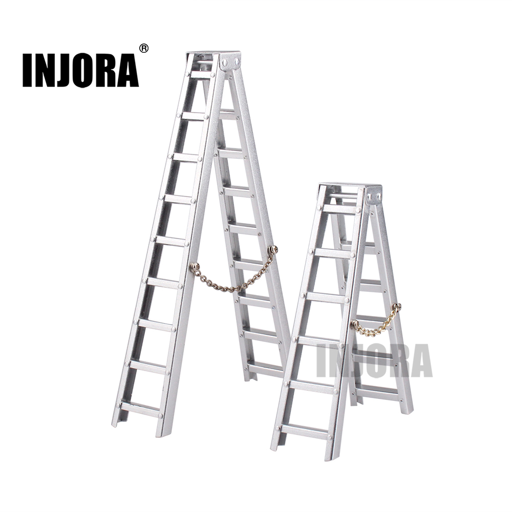 INJORA 100mm 150mm Mini aluminio escalera para 1:10 RC Rock Crawler Axial SCX10 90046 D90 D110 TAMIYA CC01 traxxas TRX-4