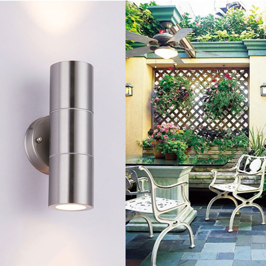 BEIAIDI Modern Stainless Steel LED Wall Lamp Outdoor Surface Mounted Wall Light Waterproof Exterior Building Villa Park Sconces
