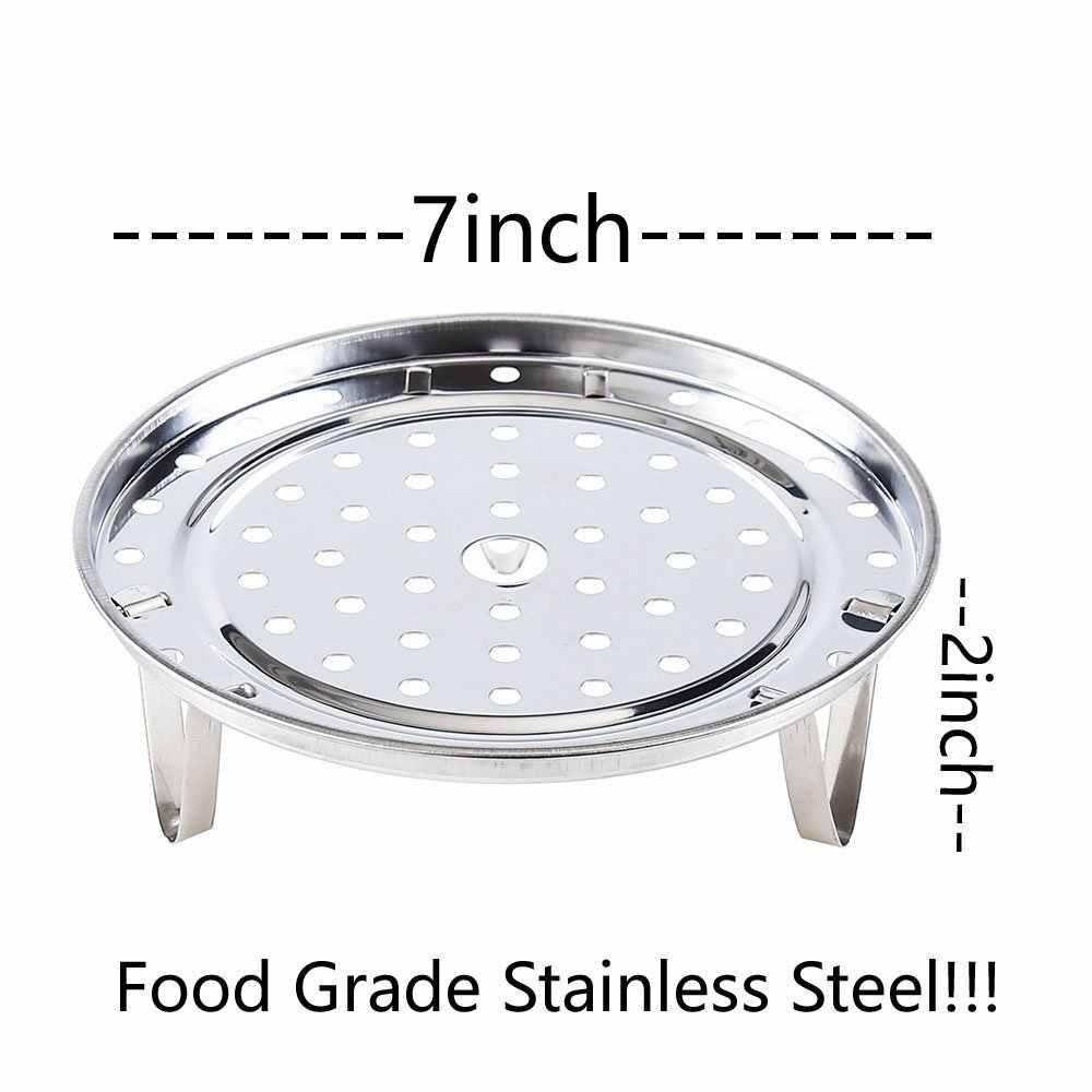 Folding Steel Metal Steamed Steam Food Dish Plate Steamer Pressure Cooker Basket
